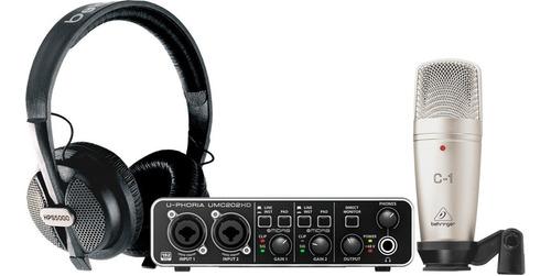 Imagen 1 de 5 de Sistema Completo De Grabacion Behringer U-phoria Studio Pro