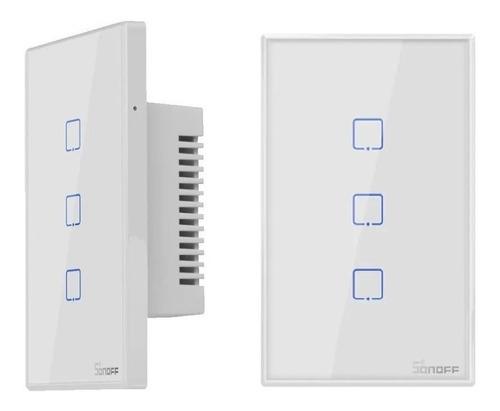 Imagem 1 de 10 de  Interruptor Wifi Sonoff Touch 3 Botões Google Home Alexa