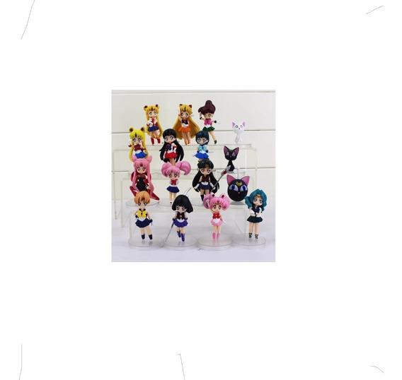 Sailor Moon Set De 16 Figuras Petit Chara