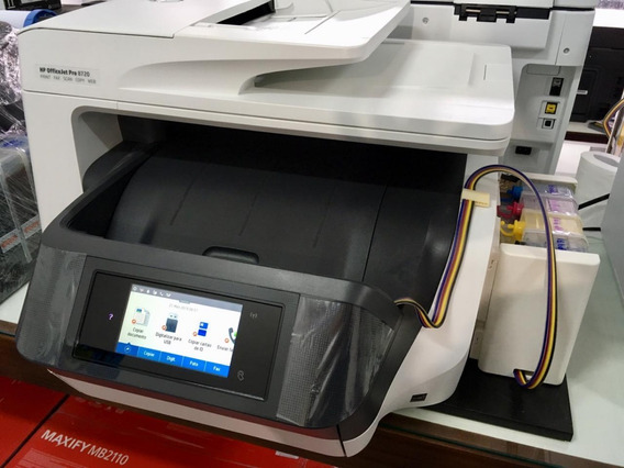 Impressora Hp Officejet Pro 8720 - Nova Com Bulk Ink