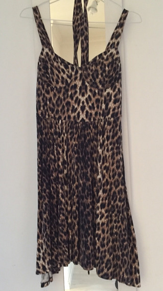 Vestido Fiesta Animal Print Leopardo