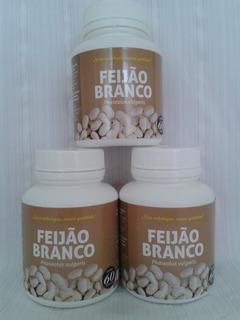 Feijão Branco Faseolamina 180 Cápsulas 500 Mg 3 Frascos