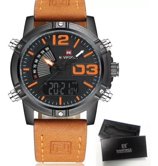 Relógio Masculino Naviforce 9095 Original Na Caixa Original