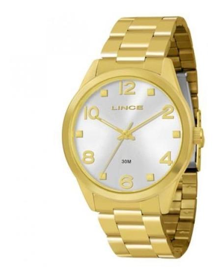 Relogio Lince Lrg4215l K032 Pulseira Dourada