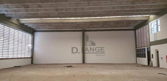 Galpão Para Alugar, 1245 M² Por R$ 25.000/mês - Jardim Santa Genebra - Campinas/sp - Ga0628