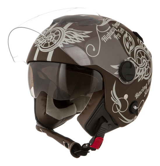 Capacete Com Viseira Solar New Atomic Pro Tork Highway Dream