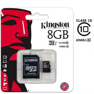 Memoria Micro Sd 8 Gb Kingston Clase 10