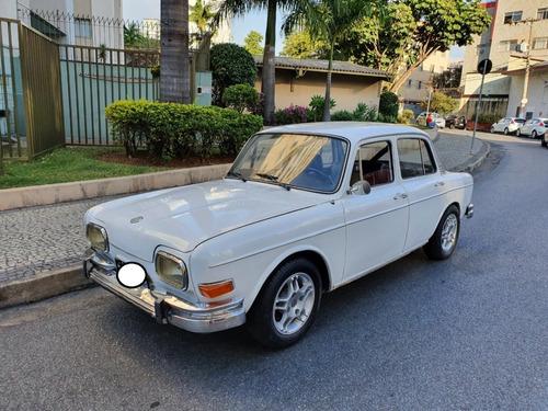 Volkswagen Fusca 1600 4p Branco 1969 Placa Preta