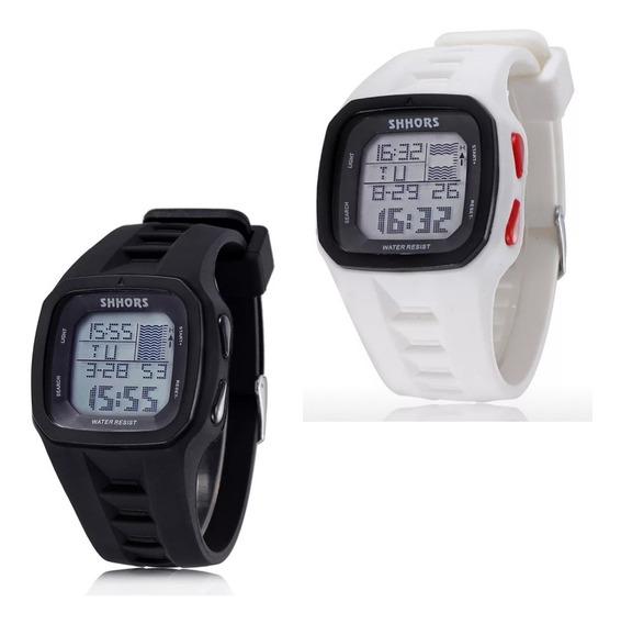 Kit 2 Relógios Esporte Shhors Trestle Pro