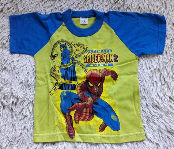 Remera Spiderman Hombre Araña Bebe Niño Talle 2