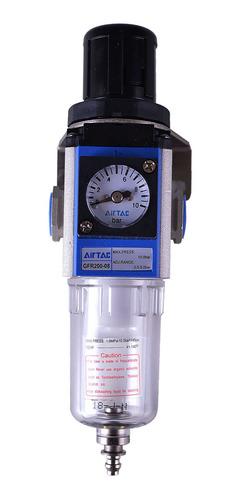 Imagem 1 de 5 de Filtro E Regulador De Ar Pequeno 1/4  5 Micras Puma - Tfr14