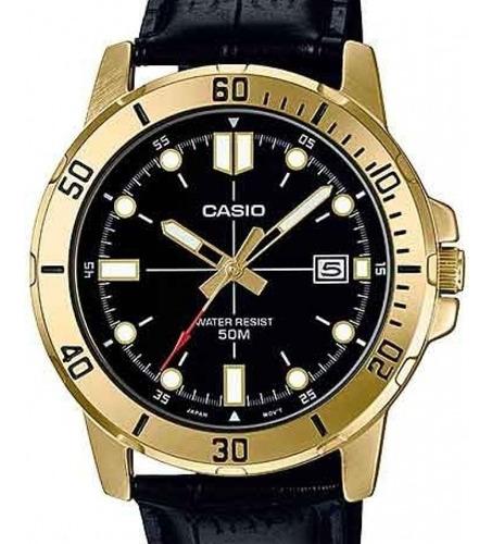 Relógio Casio Masculino Collection Couro Mtp-vd01gl-1evudf