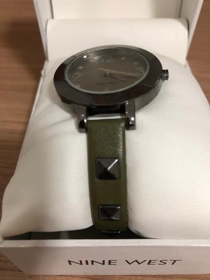 Relógio Ninewest Com Pulseira Verde - Novo (sem Uso)