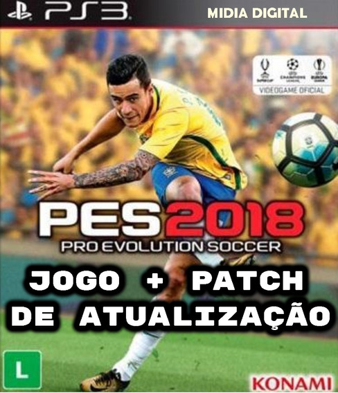 Pes 2018 Ps3 + Patch Atualização + Envio 5min.