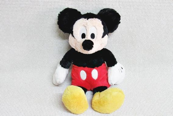 Pelucia Mickey Macia Bem Fofa Original Disney 30 Cm Bau