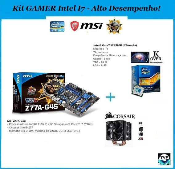 Kit Gamer Top Placa Mãe Msi Z77a-g45 + I7-2600k + Cooler A70