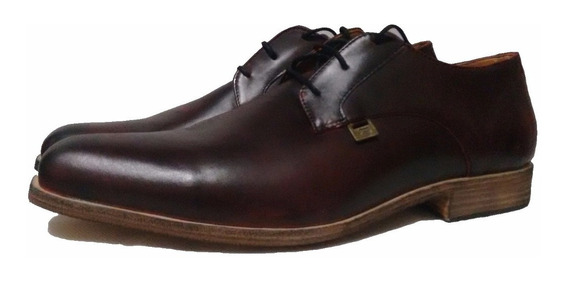 Zapatos Clasico De Cuero Color Bordo