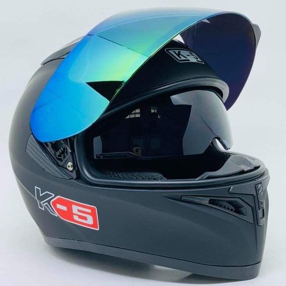 Capacete Para Motos K5 Modelo Novo Preto Fosco Promoção