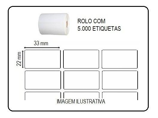 Etiquetas Adesivas 3,3x2,2cm Impressoras Argox Elgin Zebra