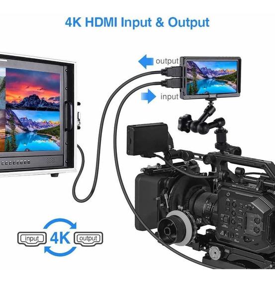 Monitor 5 Polegadas 4k Dslr Canon Nikon Sony Hd 1220 X 1080