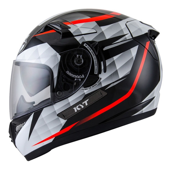 Casco Moto Kyt Venom Diamond W Visor De Sol Motoscba
