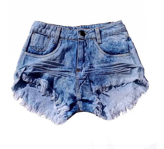 Shorts Jeans Feminino Praia Desfiado Hot Pants St004