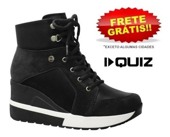 Tênis Feminino Bota Flatform Sneaker Quiz 67-37924 Preto