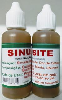 Sinusite 100% Natural Uso Nasal 30 Ml Atacado 10 Unidades***