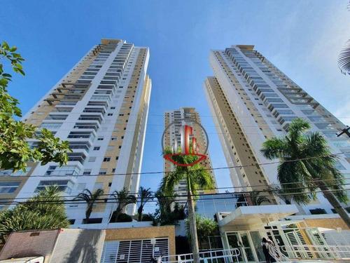 Apartamento De 3 Dormi´rios Em Santos, Alto Padrão, Aceita Permuta. - Ap2444