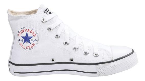 Tênis Converse All Star Chuck Taylor Cano Alto Bota Branco