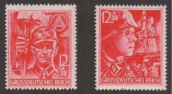 Grc55 - Selos Alemanha Reich 1945 Mi#909/10 Última Emissão