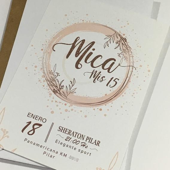 Invitaciones Tarjetas Bodas Casamientos 15 Años C/sobre X70