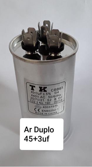 Capacitor Duplo Ar Condicionado 45+3 Ufx440v Cbb 65