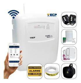 Kit Alarme S/ Fio Max Wifi Ecp Celular C/ 3 Sensores