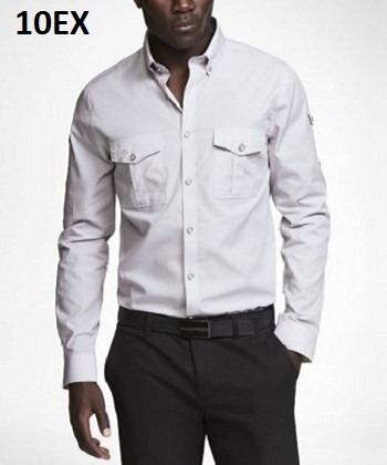 M, L - Camisa Express Plata C10ex Ropa Hombre 100% Original