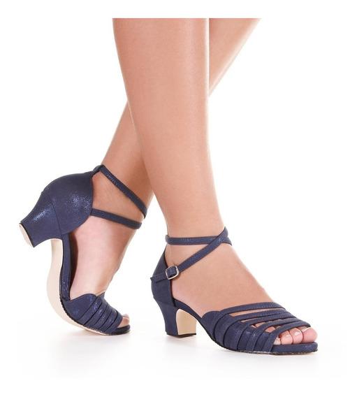 Sandália Para Dança Só Dança Salto 4,5cm Bl672 - Sola Camurç