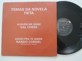 Gal Costa, Nando Cordel,lp Temas Da Novela Tieta, Promo 1989