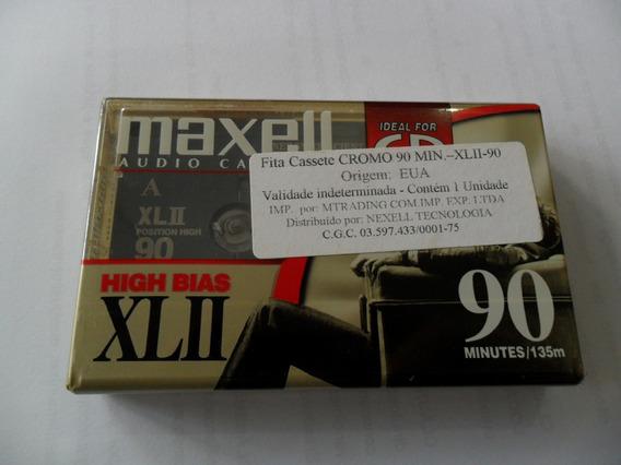 Fita Cassette Maxell Xl2 90 Made Mexico 90 Minutos