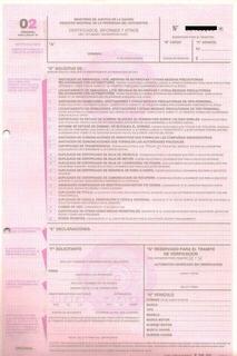 Formulario 02 Automotor Info De Dominio Ced Azul En Congreso