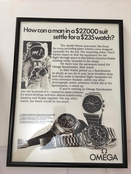 Quadro Relógio Omega Speedmaster Mold Alumínio E Vidro