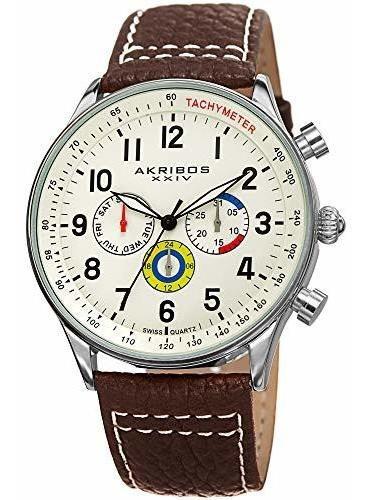 Akribos Xxiv Ak751 - Reloj Multicolores Para Hombre, 3 Subes