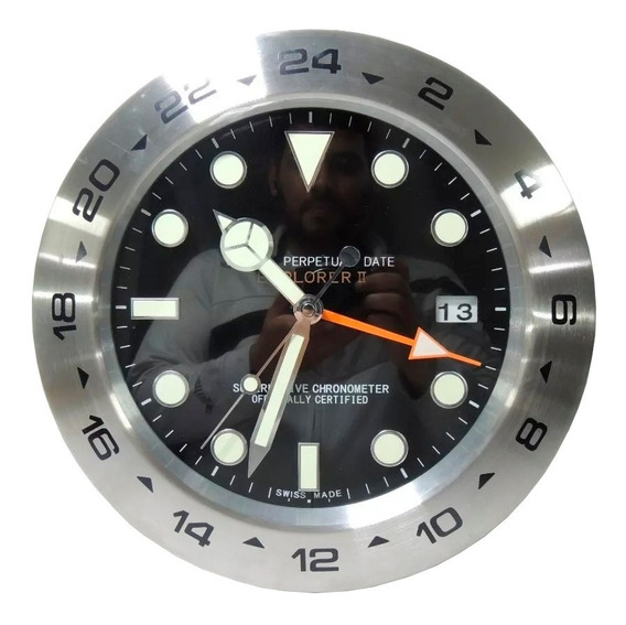 Relógio De Parede Decorativo Calendário Gmt Master Explorer