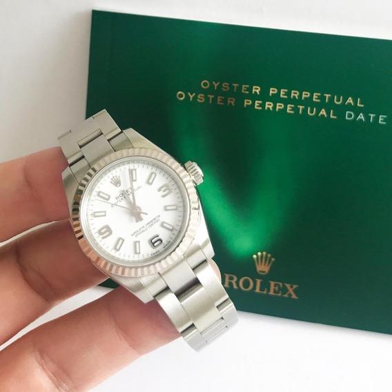 Rolex Oyster Perpetual 26 Ouro Branco E Aço Novíssimo