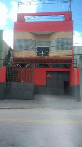 Galpão, 1200 M² - Venda Por R$ 1.908.000,00 Ou Aluguel Por R$ 7.000,00/mês - Vila Francisco Remeikis - Taboão Da Serra/sp - Ga0043