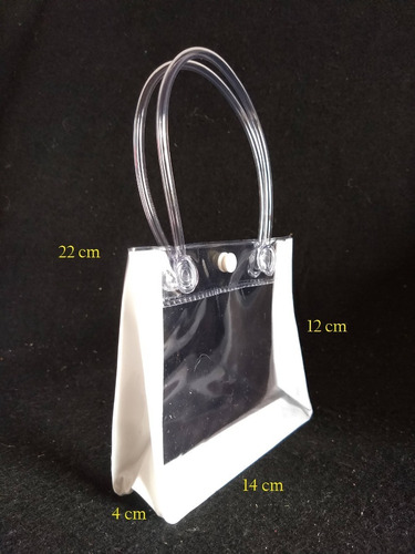 Kit C/ 10 Sacolinha Transparente Necessaire Alça E Botão