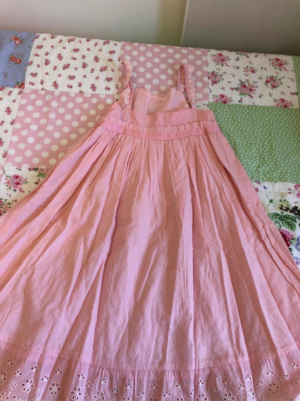 Vestido Brodery Rosa - Cheeky