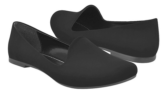 Flats Casuales Stylo Para Mujer Suede Negro 1798