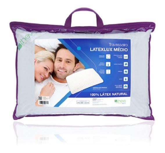 Travesseiro Latexlux Médio Látex Natural Copespuma Theva