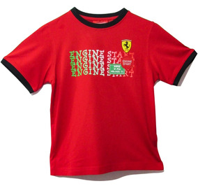 Camiseta De Niño Ferrari Engine Star