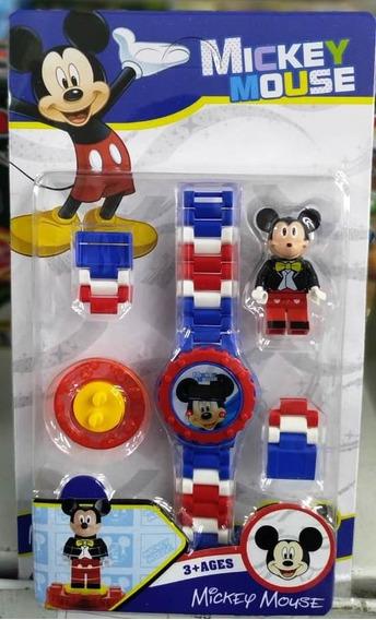 Relógio Infantil Pulseira Personagem Disney Mickey Lego